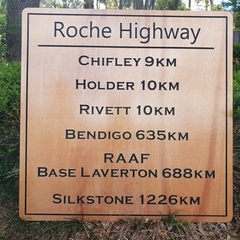 Family name Road sign made from marine plywood 800 x 800 mm, Timber sign, Custom