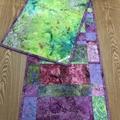 Pastel Shades Batik Table Runner