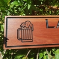 Personalised wooden bar sign, custom man cave sign timber gift present 600x135mm