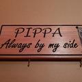 Timber photo sign, pet sign, wooden dog / cat sign, 450 x 135mm