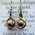 Unakite Stone Twist Earrings