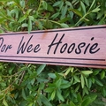Personalised wooden house sign made of hardwood, property, sign 600x135mm
