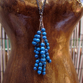 Dark Blue Stone Long Necklace