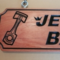 Timber Sign Carved from Hardwood, 600 x 185mm, Property Sign, Man Cave
