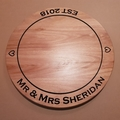 Handmade Wooden Lazy Susan Carved with the words of your choice on it