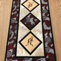 Australiana table runner - Kangaroo