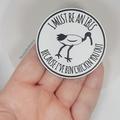 Bin Chicken (Ibis) Brooch Pin // FREE POSTAGE // Laser Cut Acrylic