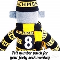 ADD ON: Felt number patch for your footy sock monkey