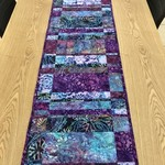 Shades of Purple Batik Table Runner
