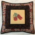 Australiana cushion cover - 'Bush Tomato'