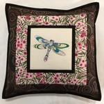 Australiana cushion cover - Dragonfly