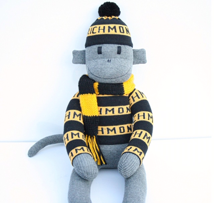 Footy Sock Monkey Check Available Teams Made To Order