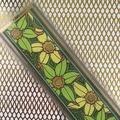 Art Nouveau 'Jonquils Panel' Grey Bookmark