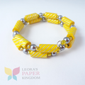 Classic Yellow Paper Bead Bracelet