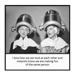 Funny Vintage Photo Magnet | Friend Gift | I love how we instantly know