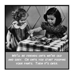 Funny Vintage Photo Magnet | Friend Gift | Friends until we are old and grey