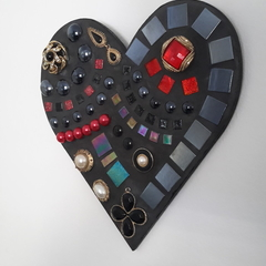 Mosaic wall heart