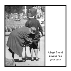 Funny Vintage Photo Magnet | Best Friend Gift | Always has your back