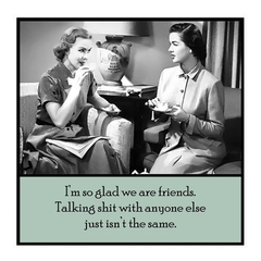 Funny Vintage Photo Magnet | Friend Gift | So glad we are friends