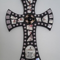 Mosaic wall cross