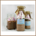 LARGE Decadent HOT CHOCOLATE Mix in a bottle. makes 4 large mugs