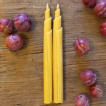 Pure Beeswax Candles, Hand Rolled Scroll Candlesticks, Pair