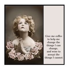 Funny Magnet | Prayer for coffee and wine