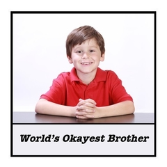 Funny Brother Gift Magnet | World's Okayest Brother