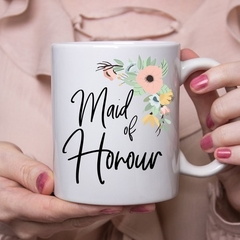 Maid of Honour Gift - Coffee Mug - Boho Wedding Favour - Maid of Honor Mug - Bri
