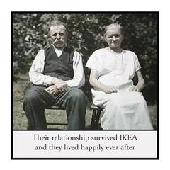 Funny Vintage Photo Magnet | Husband Wife Partner Gift | Survived IKEA
