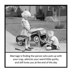 Funny Vintage Photo Magnet | Husband Wife Partner Gift | Puts up with your crap