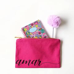 Teen Girl Personalised Gift , Gifts For Tweens , Gift Ideas For Teens , Pink zip