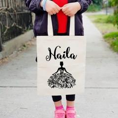 Flower Girl Personalised Kid Tote Bag