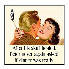 Funny Vintage Photo Magnet | Husband Wife Partner Gift | Never again asked