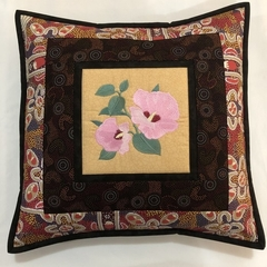 Australiana cushion cover - 'Sturt's Desert Rose'