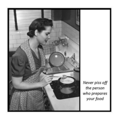 Funny Vintage Photo Magnet | The person who prepares your food