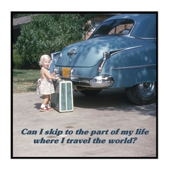 Vintage Photo Magnet | Bon Voyage Travel Gift | Travel the world