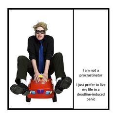 Funny Magnet | I am not a procrastinator