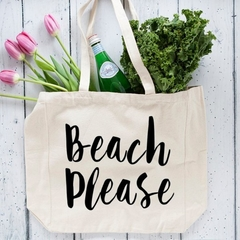 Extra Large Beach Tote Bag  , Oversized Beach Bag , Canvas Tote , Beach Please ,