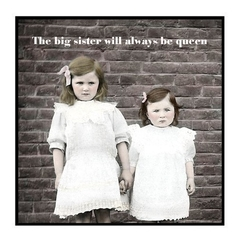 Funny Sister Magnet | The big sister will always be queen