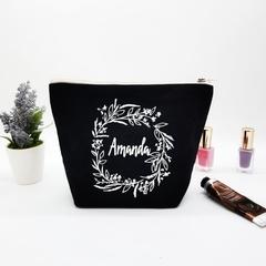 Personalised Zipper Pouch - Bridal Party Gift Bag - Monogram Makeup Bag - Hen pa