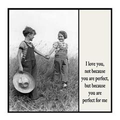 Heartfelt Vintage Photo Magnet | Husband Wife Partner Gift | Perfect for me