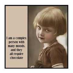 Funny Vintage Photo Magnet | Chocoholic Gift | I am a complex person