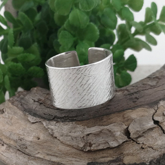 OPEN BAND CUFF RING, Sterling silver Thumb Ring. Upcycled Silverware Jewellery.