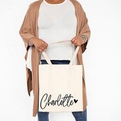 Personalised Tote Bag , Bridesmaid Gift Bag , Custom Canvas Tote, Name Tote Bags