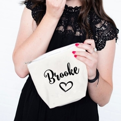 Personalized Cosmetic Bag , Bridesmaid Cosmetic Pouch , Cosmetic Bag , Bridesmai