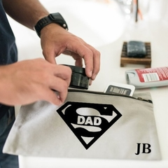 Personalised Toiletry Bag - SuperDad Gift - Men Grooming bag