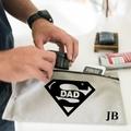 Personalised Toiletry Bag - SuperDad Gift - Men Grooming bag