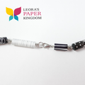 Black and White Paper Bead Necklace