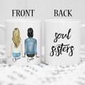 Personalised Best Friend Mug, Custom Gift for Best Friend, BFF Coffee Mugs, Soul